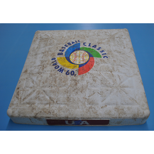 Photo of Game-Used Base - 2009 WBC - Round 2 - 3rd Base - Miami - Netherlands vs. United States - 03/15/2009