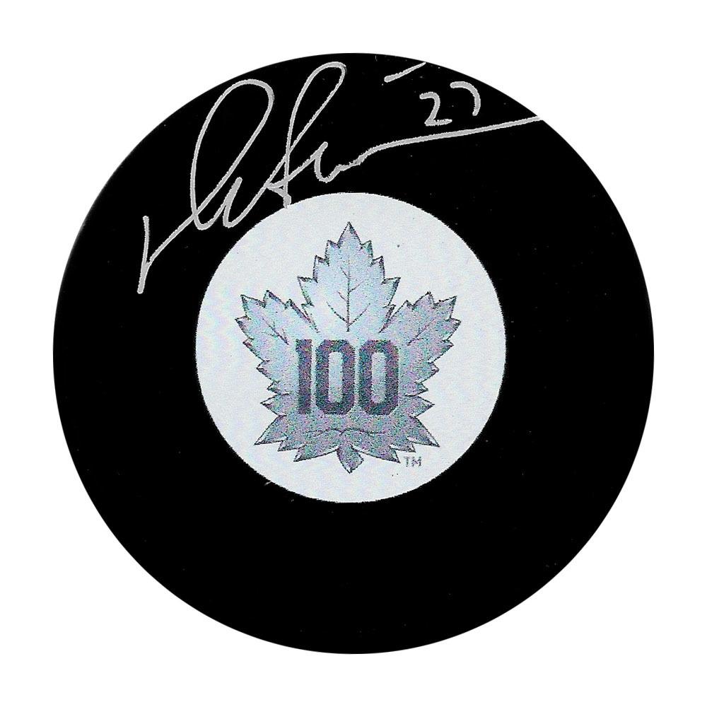 Darryl Sittler Autographed Toronto Maple Leafs Centennial Puck