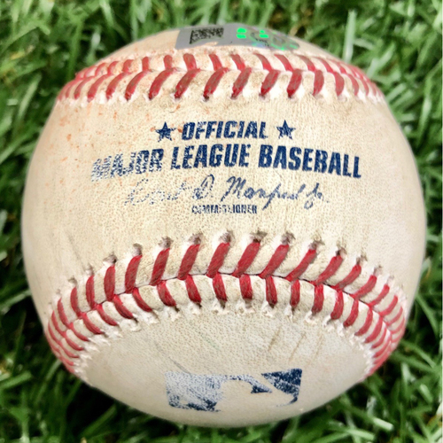 Photo of Game Used Baseball: Michael Brosseau singles off Ryan Weber - September 13, 2020 v BOS