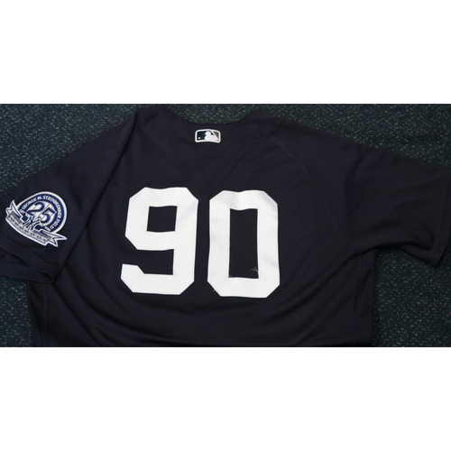 Photo of Team-Issued Spring Training Jersey - Estevan Florial - #90 - Jersey Size - 44