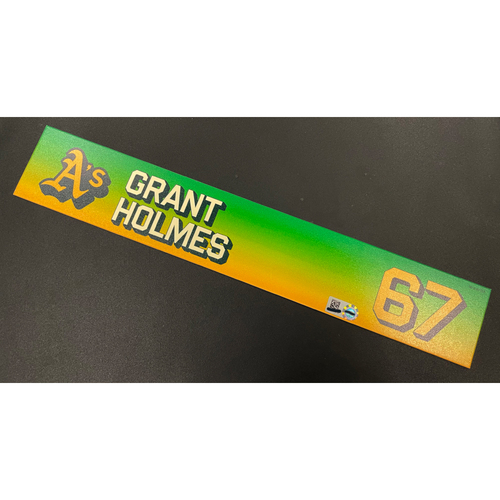 Photo of Team Issued 2020 Locker Nameplate - Grant Holmes