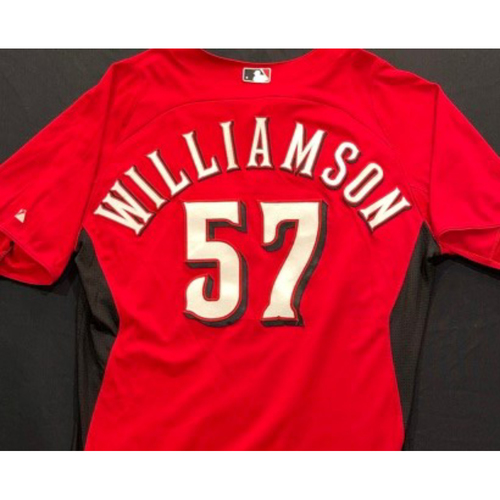 Photo of WILLIAMSON -- Authentic Reds Jersey -- $1 Jersey Auction -- $5 Shipping -- Size 46 (Not MLB Authenticated)