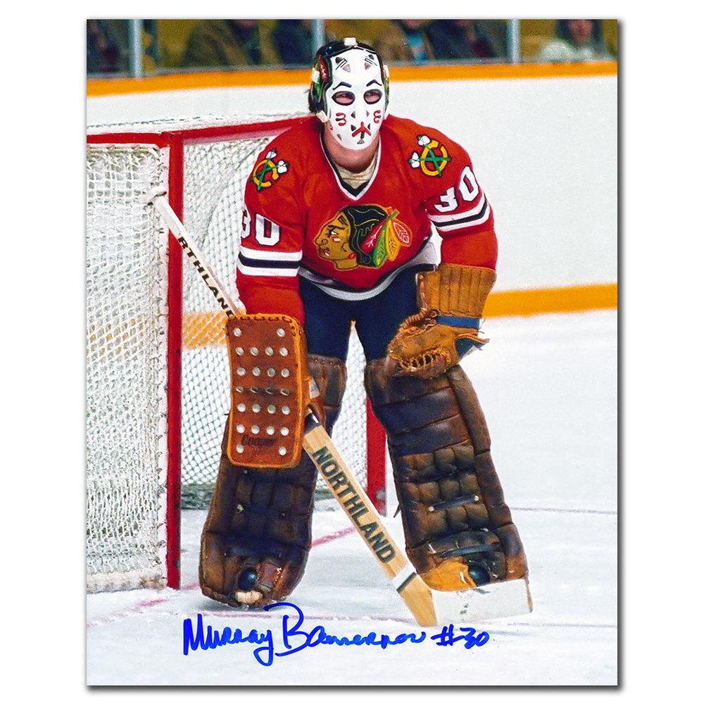 Murray Bannerman Chicago Blackhawks Autographed 8x10
