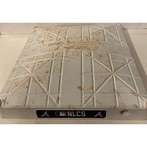 Photo of Game Used Third Base Used During the 4th Inning - 10/23/21 - Eddie Rosario 3 Run Home Run - Braves Win National League Championship