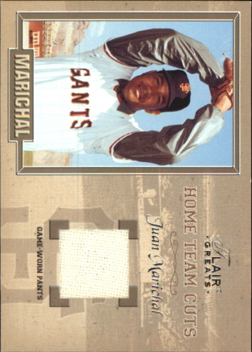 Photo of 2003 Flair Greats Home Team Cuts Game Used #7 Juan Marichal Pants