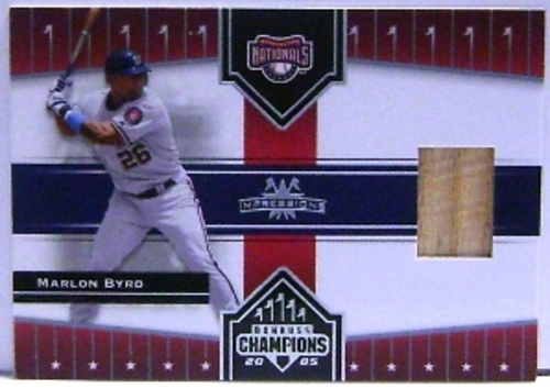 Photo of 2005 Donruss Champions Impressions Material #406 Marlon Byrd Nats Bat T5