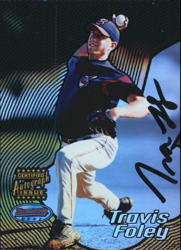 Photo of 2002 Bowman's Best Blue #125 Travis Foley AU