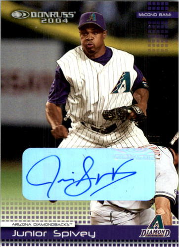 Photo of 2004 Donruss Autographs #217 Junior Spivey/132