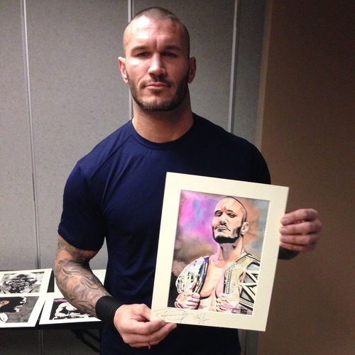 Randy Orton Signed Painting by Rob Schamberger