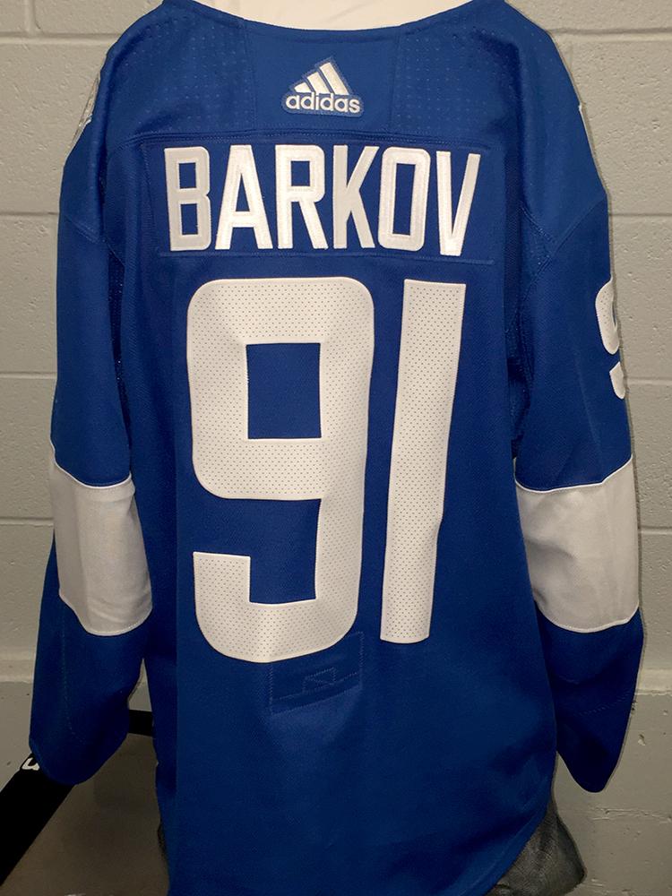 huge selection of 2ca06 f70ee Aleksander Barkov Florida Panthers Game-Worn Home 2016 World ...