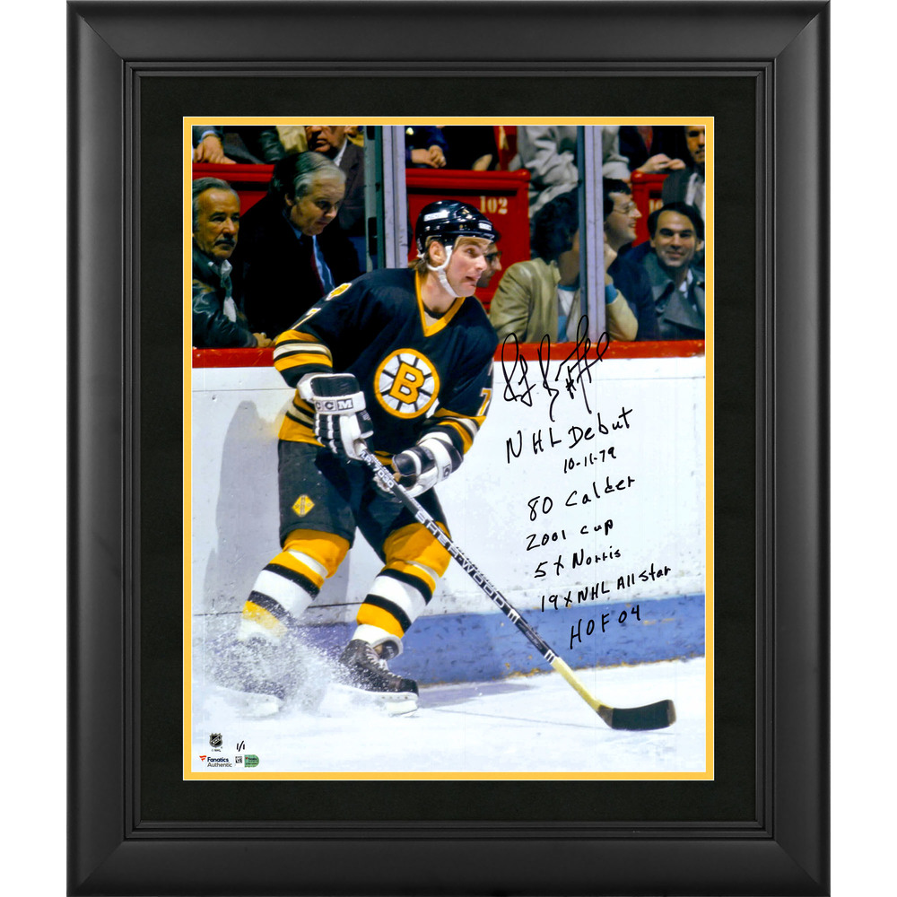Ray Bourque Boston Bruins Framed Autographed 16