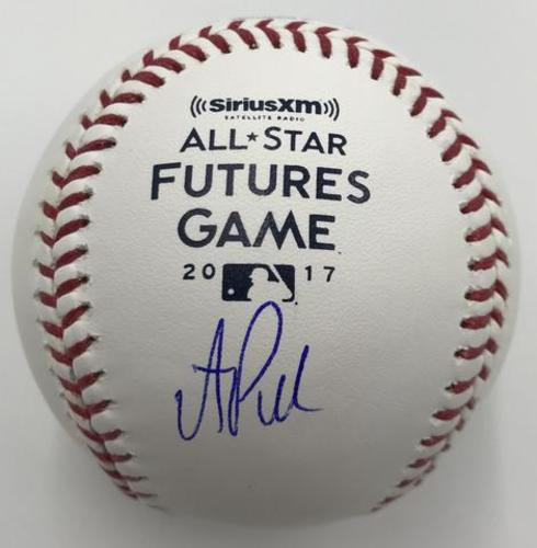 Photo of AJ Puk Autographed 2017 Futures Game Logo Baseball