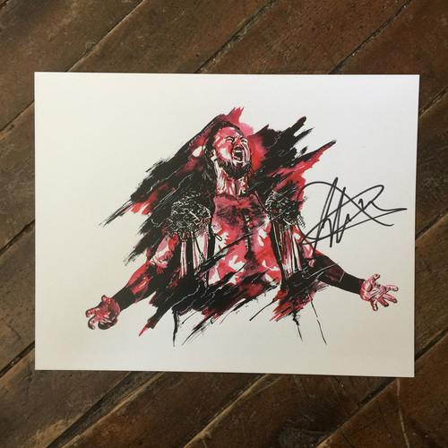 Photo of Drew McIntyre SIGNED 11 x 14 Rob Schamberger Print