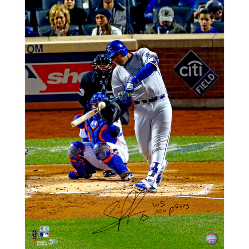 "Photo of Salvador Perez Kansas City Royals 2015 MLB World Series Champions Autographed 16"" x 20"" Photo with MVP Inscription"