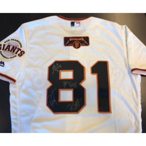 Photo of Giants Metallica Auction: Metallica Signed Giants Jersey