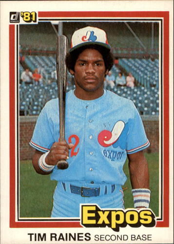 Photo of 1981 Donruss #538 Tim Raines Rookie Card -- Hall of Fame Class of 2017