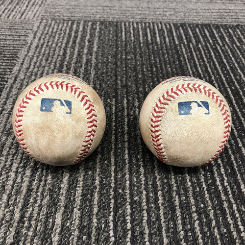 Photo of 2016 Game Used Baseballs - Jeff Samardzija Career Strikeout 999 & Strikes 1 & 2 of Career Strikeout 1,000