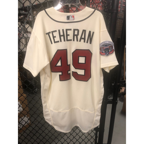 Photo of Julio Teheran Game-Used Ivory Jersey - Worn 5/6/17