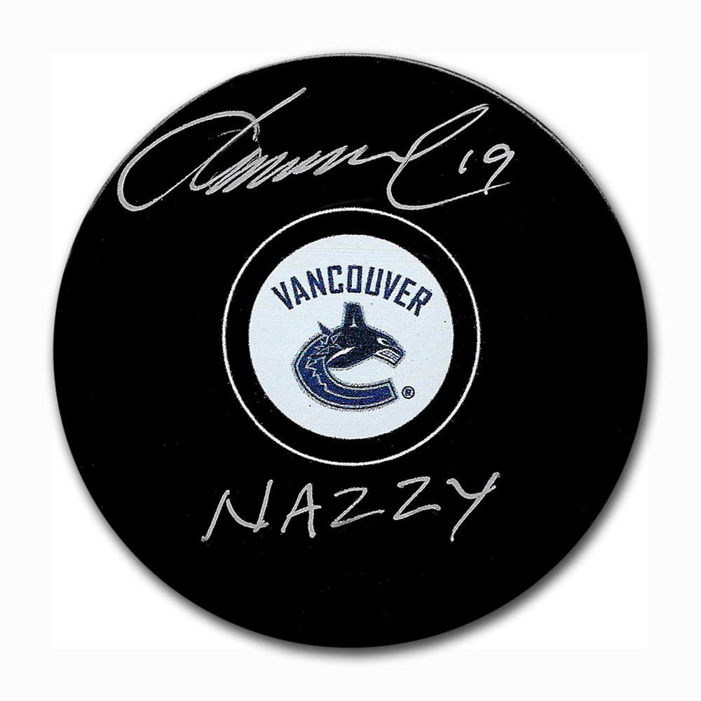 Markus Naslund Autographed Vancouver Canucks Puck w/NAZZY Inscription