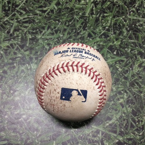 Photo of Game-Used Baseball STL@MIL 04/15/19 - Dakota Hudson - Christian Yelich: Foul (Yelich 3 HR Game)