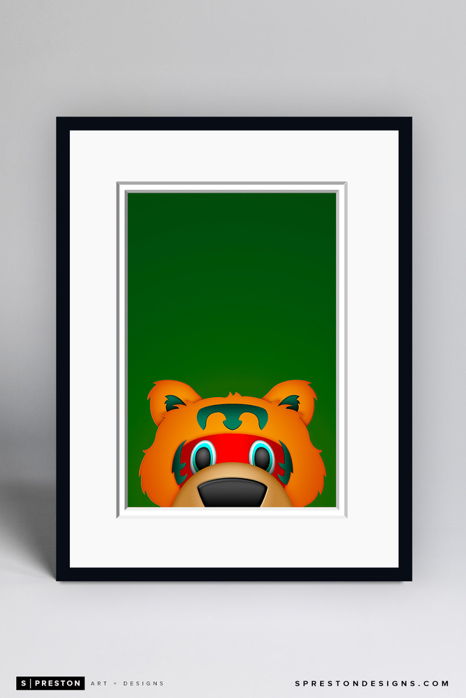 Nordy - Framed Limited Edition Minimalist NHL Mascot Art Print (6/350) by S. Preston