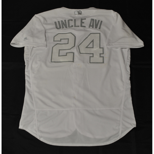 "Photo of Avisail ""UNCLE AVI"" Garcia Tampa Bay Rays Game-Used 2019 Players' Weekend Jersey"