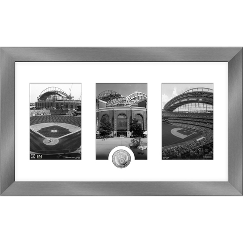 Photo of Milwaukee Brewers Art Deco Silver Coin Photo Mint