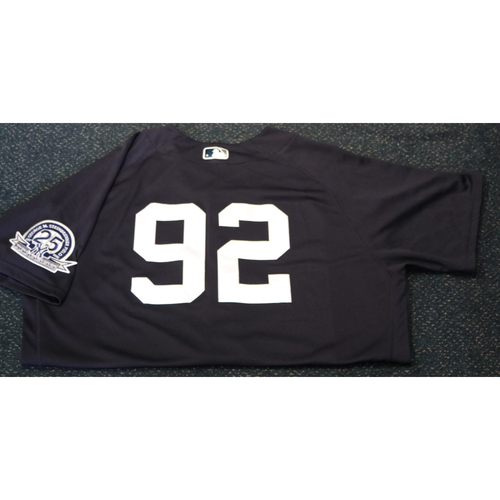 Photo of Team-Issued Spring Training Jersey - Chris Gittens - #92 - Jersey Size - 48