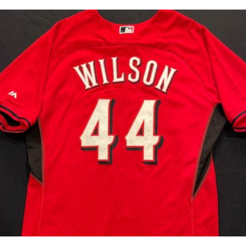 Photo of WILSON -- Authentic Reds Jersey -- $1 Jersey Auction -- $5 Shipping -- Size 50 (Not MLB Authenticated)
