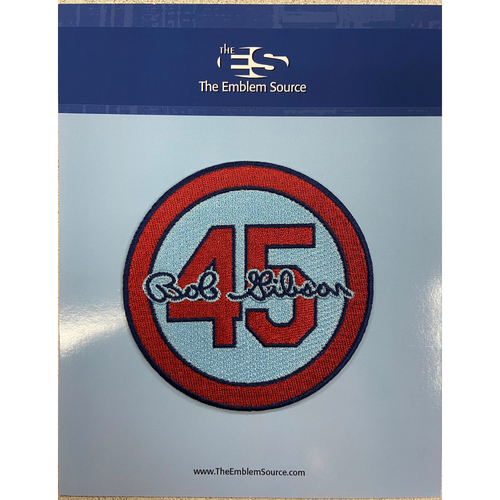 Photo of Cardinals Authentics: Bob Gibson Home Road Alternate Blue Memorial Patch