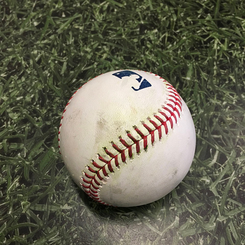 Photo of Game-Used Baseball ARI@MIL 06/06/21 - Corbin Burnes - Carson Kelly: Strikeout (8th Strikeout in Burnes' Career High 13-Strikeout Performance)