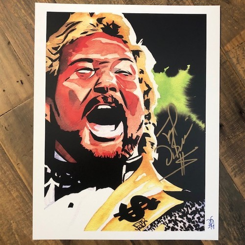Photo of Ted DiBiase SIGNED Rob Schamberger 11 x 14 Art Print (Everyone has a price)
