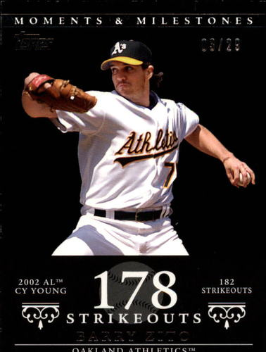 Photo of 2007 Topps Moments and Milestones Black #49-178 Barry Zito/SO 178