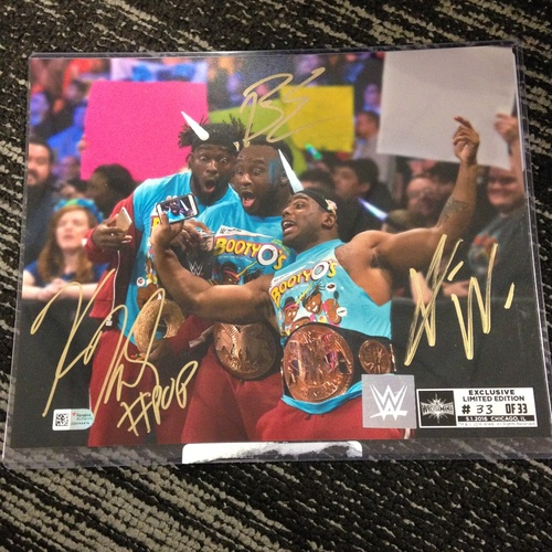 The New Day SIGNED 8 x 10 Limited Edition WrestleMania 33 Photo (#33 of 33)