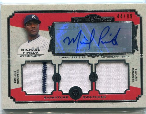 Photo of 2013 Topps Museum Collection Signature Swatches Triple Relic Michael Pineda 44/99