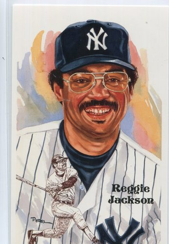 Photo of 1980-02 Perez-Steele Hall of Fame Postcards #216 Reggie Jackson -- HOF Class of 1993