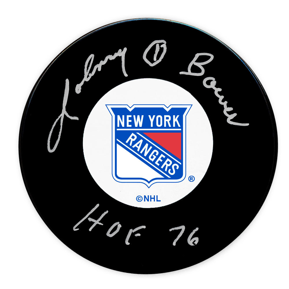 Johnny Bower New York Rangers HOF Autographed Puck