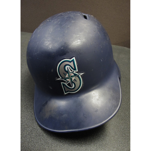 Photo of Mike Zunino Team-Issued Navy Batting Helmet 2017  . Helmet Size - 7 1-2