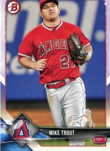 Photo of 2018 Bowman #1 Mike Trout
