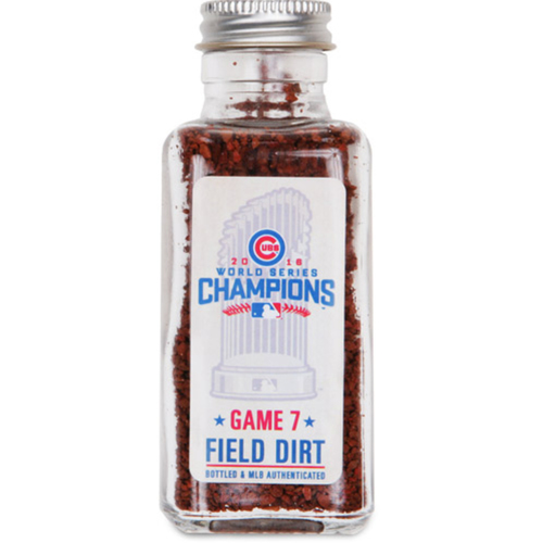 Photo of 2016 World Series Game 7: Chicago Cubs Game-Used Dirt Jar