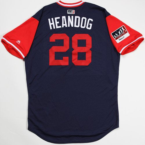 "Photo of Andrew ""Heandog"" Heaney Los Angeles Angels Game-Used 2018 Players' Weekend Jersey"