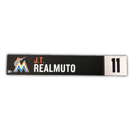 Game-Used Locker Tag: J.T. Realmuto