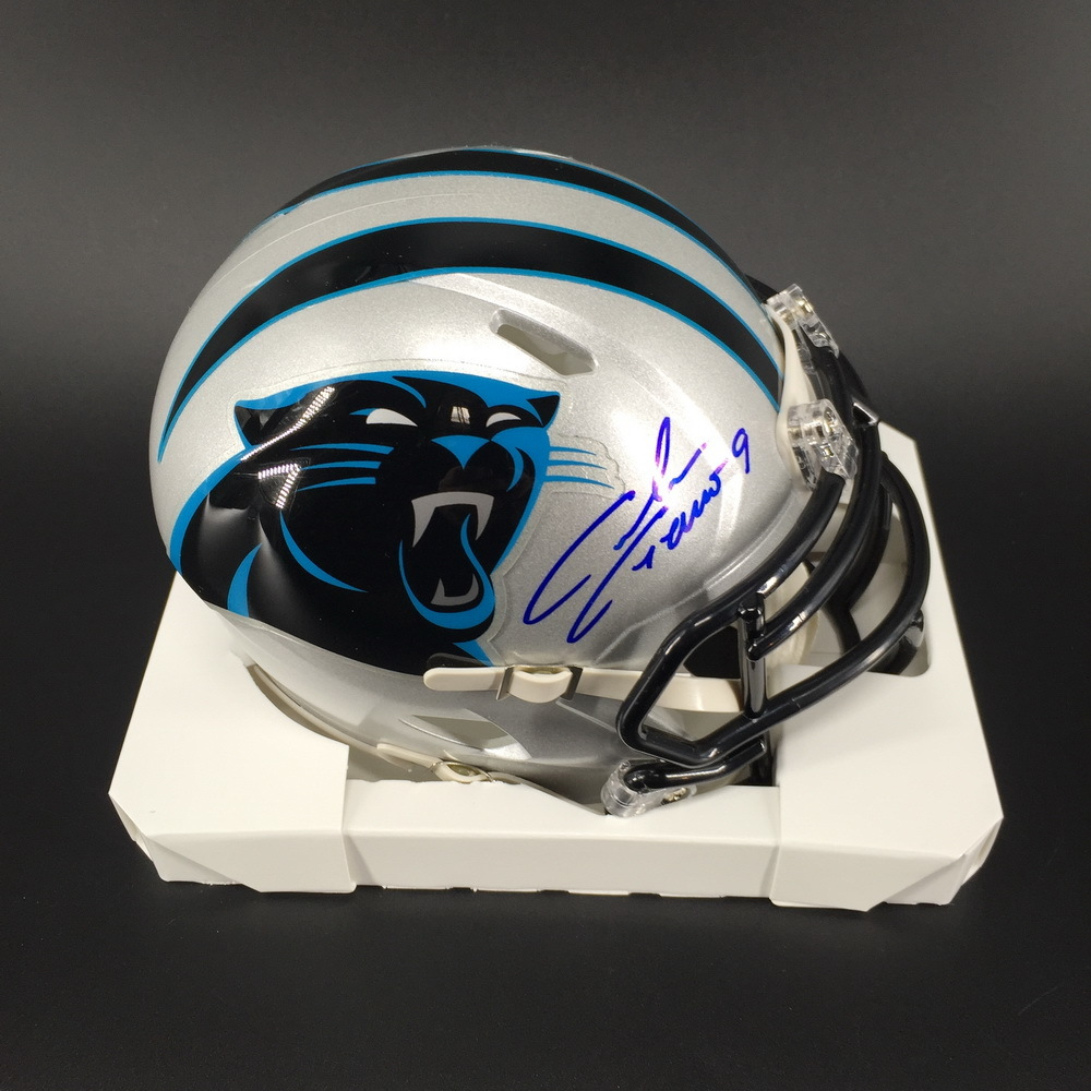 Panthers - Graham Gano Signed Mini Helmet