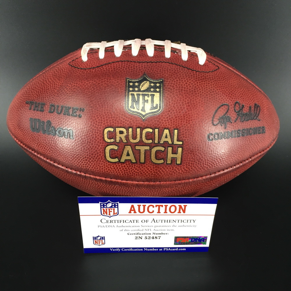 Crucial Catch -  Eagles Vs. Vikings Game Issued Football (October 7th,2018)