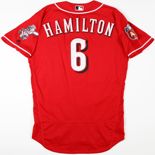 Photo of 2016  Spring Training -  Game-Used Jersey - Billy Hamilton (Reds) - Size 44