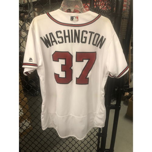 Photo of Ron Washington Game-Used Home White Jersey - Worn 5/1/17
