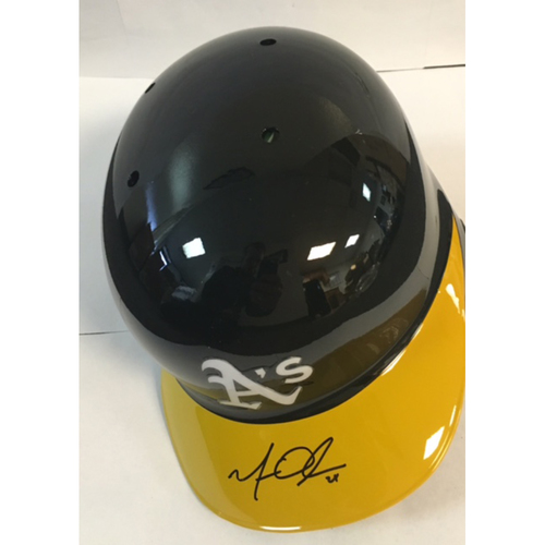 Photo of Matt Olson Autographed Athletics Batting Helmet