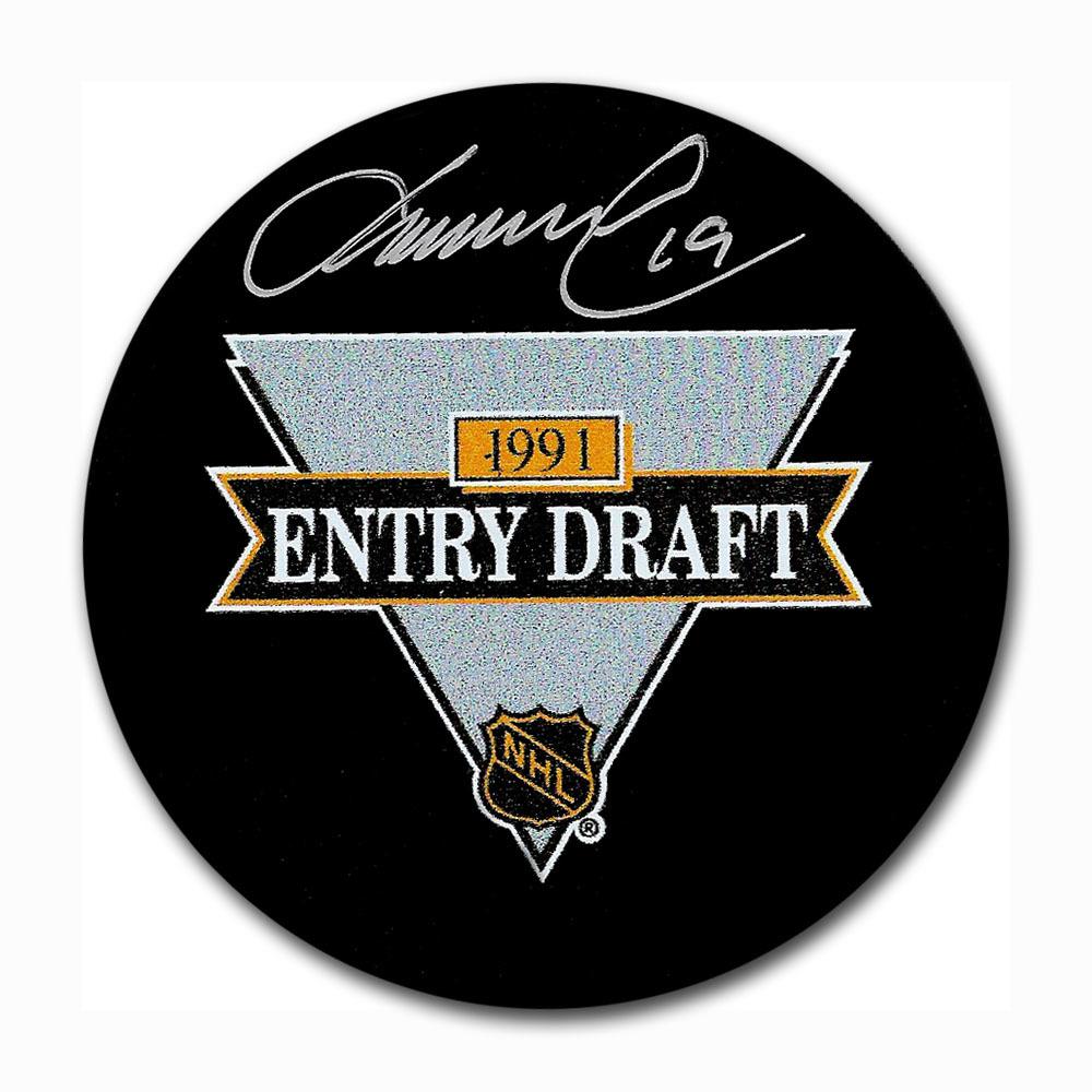 Markus Naslund Autographed 1991 NHL Entry Draft Puck