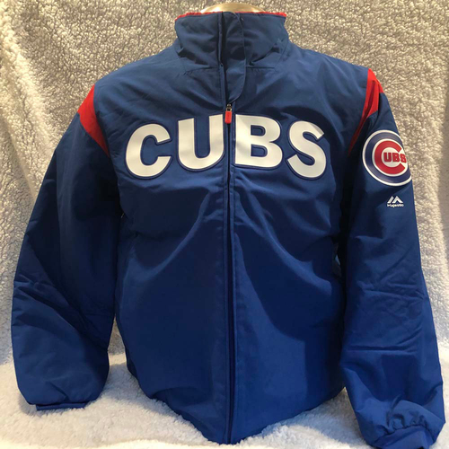 Photo of UMPS CARE AUCTION: Chicago Cubs Majestic Therma Base Jacket Size Large