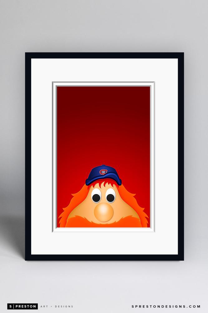 Youppi! - Framed Limited Edition Minimalist NHL Mascot Art Print (6/350) by S. Preston